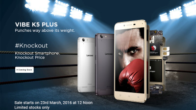 Open Sale Lenovo K5 Plus