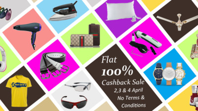 100 percent cash back sale on killerkart