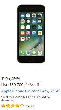 Apple iphone 6 lowest price