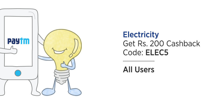 offer on electricity bill payment