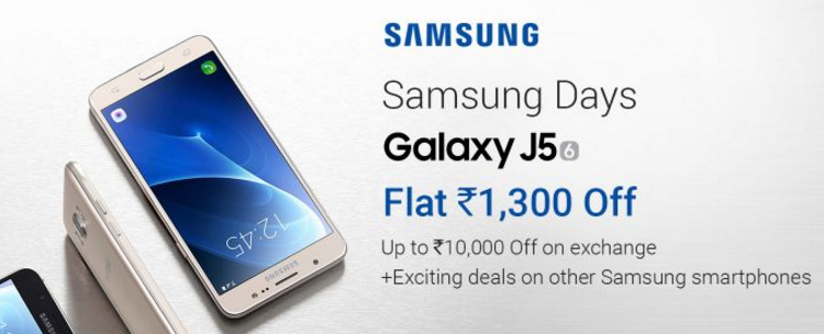 734542bd27a Samsung Galaxy J5-6   Flat Rs.1300 Off + Upto Rs.10000 Off on ...